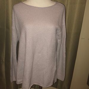 Joie Cashmere Blend Sweater Purple S Crew